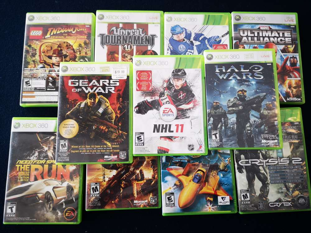 X-box 360 with 11 games